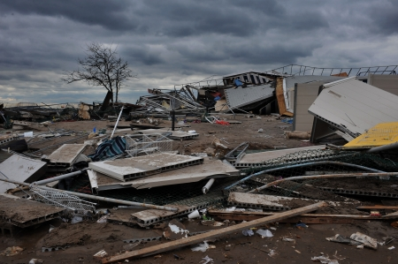BROOKLYN, NY - NOVEMBER 01: Serious damage in the buildings at the Seagate Beach club due to impact from Hurricane Sandy in Brooklyn, New York, U.S., on Thursday, November 01, 2012. Stock Photo - 16816776