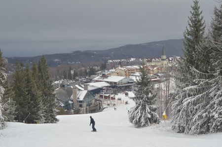 View to ski resort slopes at Stratton, Vermont