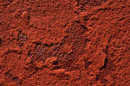 chipped red paint on rusty textured metal background  Stock Photo - 16811975