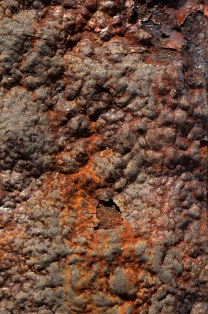 blotched:  Rusty grunge texture red rust on a blue color