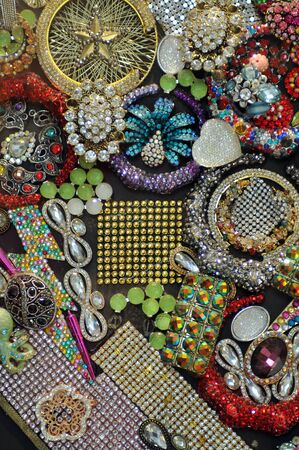 Various jewellery fashion accessories as background photo