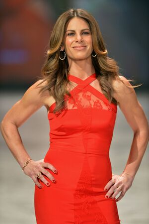 NEW YORK, NY - FEBRUARY 06: Jillian Michaels wearing Cushnie et Ochs walks the runway at The Heart Truths Red Dress Collection during Fall 2013 Mercedes-Benz Fashion Week at Hammerstein Ballroom on February 6, 2013 in New York City.