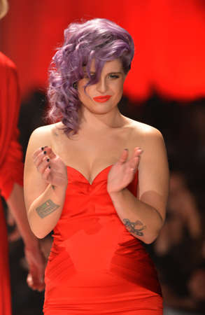 kelly: NEW YORK, NY - FEBRUARY 06: Kelly Osbourne wearing Zac Posen walks the runway at The Heart Truths Red Dress Collection during Fall 2013 Mercedes-Benz Fashion Week at Hammerstein Ballroom on February 6, 2013 in New York City.  Editorial