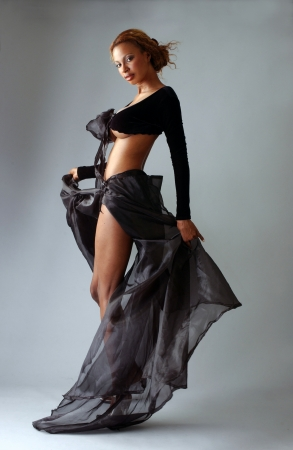 african sexy: Beautiful African American model posing wearing fashionable dresses