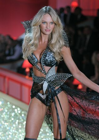 NEW YORK - NOVEMBER 10: Victoria's Secret Fashion Show model walks the runway during the 2010 Victoria's Secret Fashion Show on November 10, 2010 at the Lexington Armory in New York City.  Stock Photo - 18431896