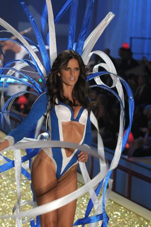 NEW YORK - NOVEMBER 10: Victoria's Secret Fashion Show model walks the runway during the 2010 Victoria's Secret Fashion Show on November 10, 2010 at the Lexington Armory in New York City.  Stock Photo - 18431926