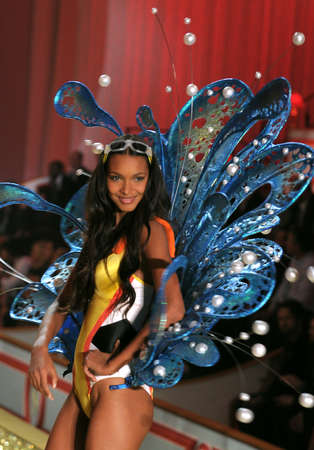 NEW YORK - NOVEMBER 10: Victoria's Secret Fashion Show model walks the runway during the 2010 Victoria's Secret Fashion Show on November 10, 2010 at the Lexington Armory in New York City.  Stock Photo - 18431874