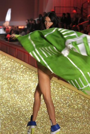 NEW YORK - NOVEMBER 10: Victoria's Secret Fashion Show model walks the runway during the 2010 Victoria's Secret Fashion Show on November 10, 2010 at the Lexington Armory in New York City.  Stock Photo - 18431945