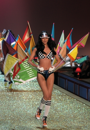 NEW YORK - NOVEMBER 10: Victoria's Secret Fashion Show model walks the runway during the 2010 Victoria's Secret Fashion Show on November 10, 2010 at the Lexington Armory in New York City.  Stock Photo - 18431551