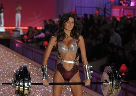 NEW YORK - NOVEMBER 10: Victoria's Secret Fashion Show model walks the runway during the 2010 Victoria's Secret Fashion Show on November 10, 2010 at the Lexington Armory in New York City.  Stock Photo - 18431868