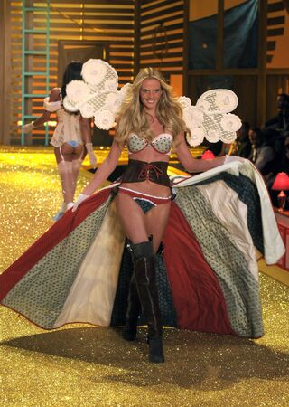 NEW YORK - NOVEMBER 10: Victoria's Secret Fashion Show model walks the runway during the 2010 Victoria's Secret Fashion Show on November 10, 2010 at the Lexington Armory in New York City.  Stock Photo - 18432073