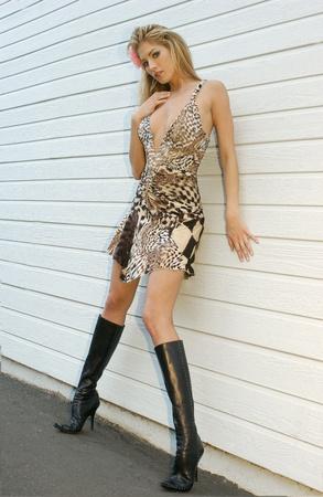 Modell Chandon posing at Redondo Beach, CA Standard-Bild