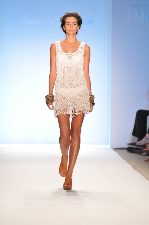 MIAMI - JULY 16: Model walks runway at the Mara Hoffman Swimsuit Collection for Spring Summer 2012 during Mercedes-Benz Swim Fashion Week on July 16, 2011 in Miami, FL