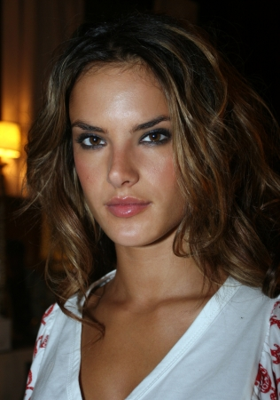 NEW YORK - SEPTEMBER 09: Model Alessandra Ambrosio poses backstage in Cipriani restaurant at the Rock and Republic Spring / Summer 2007 collection presentation during New York Fashion Week on September 09, 2006, New York. Stock Photo - 18951462