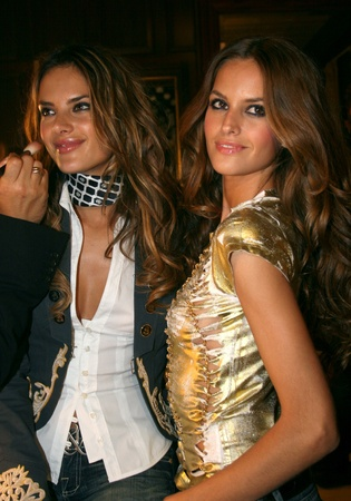 NEW YORK - SEPTEMBER 09: Models  Isabel Goulart(L) and Alessandra Ambrosio (R) poses backstage in Cipriani restaurant at the Rock and Republic Spring / Summer 2007 collection presentation during New York Fashion Week on September 09, 2006, New York. Stock Photo - 18951648