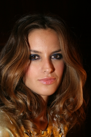 NEW YORK - SEPTEMBER 09: Model Isabel Goulart poses backstage in Cipriani restaurant at the Rock and Republic Spring / Summer 2007 collection presentation during New York Fashion Week on September 09, 2006, New York. Stock Photo - 18951484
