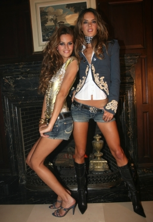 NEW YORK - SEPTEMBER 09: Models  Isabel Goulart(L) and Alessandra Ambrosio (R) poses backstage in Cipriani restaurant at the Rock and Republic Spring / Summer 2007 collection presentation during New York Fashion Week on September 09, 2006, New York. Stock Photo - 18951448
