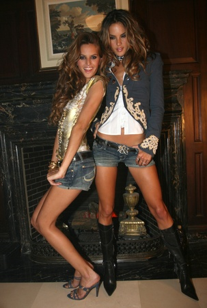 NEW YORK - SEPTEMBER 09: Models  Isabel Goulart(L) and Alessandra Ambrosio (R) poses backstage in Cipriani restaurant at the Rock and Republic Spring / Summer 2007 collection presentation during New York Fashion Week on September 09, 2006, New York. Stock Photo - 18951461