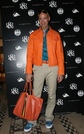verdi: NEW YORK - SEPTEMBER 09: Celebrity Stylist  TV Host Robert Verdi poses backstage in Cipriani restaurant at the Rock and Republic SS 2007 collection presentation during New York Fashion Week on September 09, 2006, New York. Editorial