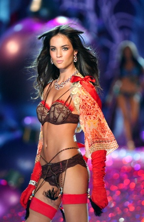 adriana: NEW YORK - NOVEMBER 9: Victorias Secret Fashion model Lily Aldridge walks the runway during the 2010 Victorias Secret Fashion Show on November 9, 2005 at the Lexington Armory in New York City.  Editorial