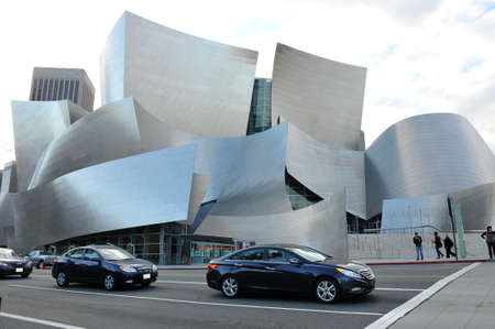LOS ANGELES, CA - OCTOBER 18: A fisheye view of the Walt Disney Concert Hall in Los Angeles, California on October 18 th, 2012. It was designed by Frank Gehry and opened on October 24th, 2003.