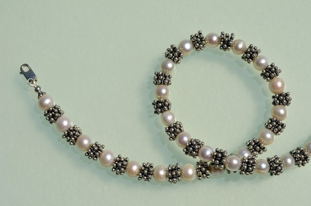 Necklace with pearls photo
