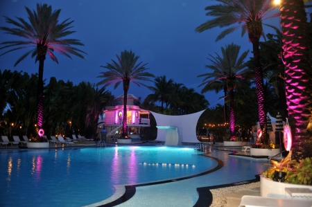 MIAMI BEACH, FL - JULY 18: A general view of atmosphere at the Mercedes-Benz Fashion Week Swim 2014 Official Kick Off Party at the Raleigh Hotel on July 18, 2013 in Miami Beach, Florida Editorial