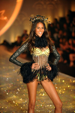 NEW YORK, NY - NOVEMBER 13: Cindy Bruna walks in the 2013 Victorias Secret Fashion Show at Lexington Avenue Armory on November 13, 2013 in New York City.