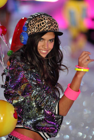 NEW YORK, NY - NOVEMBER 13: Model Sara Sampaio walks the runway at the 2013 Victoria's Secret Fashion Show at Lexington Avenue Armory on November 13, 2013 in New York City.