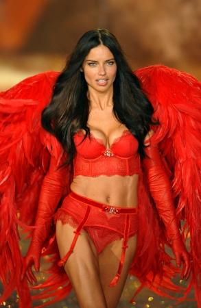 NEW YORK, NY - 13. November: Model Adriana Lima geht die Laufbahn an der 2013 Victoria Secret Fashion Show im Lexington Avenue Armory am 13. November 2013 in New York City. Standard-Bild - 24152541