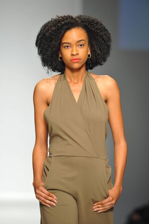 ロサンゼルス、カリフォルニア州 - 月 13: モデル スタイル ファッション週秋 2014 年は LA ライブ イベント デッキで 2014 年 3 月 13 日 LA での間にロザ