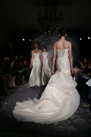 jenny: NEW YORK, NY - APRIL 12: Models walk the runway at the Jenny Lee Spring 2015 Bridal collection show on April 12, 2014 in New York City.