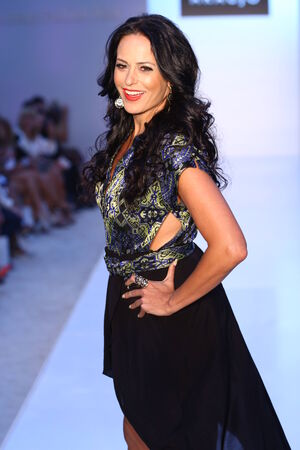 az: MIAMI BEACH, FL - JULY 21: ModelBusiness woman Cozete Gomes walks the runway at the A.Z Araujo show during Mercedes-Benz Fashion Week Swim 2015 at The Raleigh on July 21, 2014 in Miami Beach, Florida.  Editorial