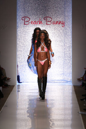 finale: MIAMI - JULY 18: Models walks runway finale at Beach Bunny Swim collection during MBFW Miami Swim at Cabana Grande on July 18, 2014 in Miami Beach Florida