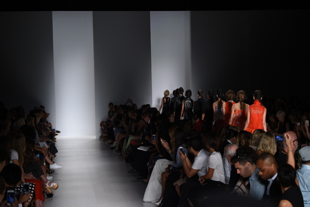 webb:    NEW YORK, NY - SEPTEMBER 04: Models walk the runway finale at the Marissa Webb fashion show during Mercedes-Benz Fashion Week Spring 2015 on September 4, 2014 in New York City.