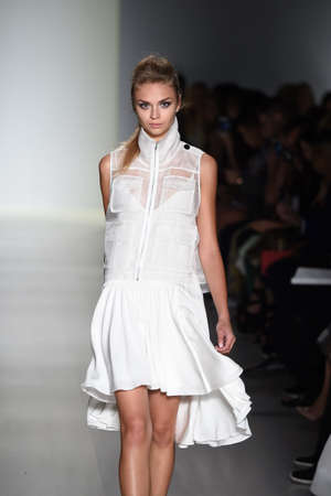 webb:    NEW YORK, NY - SEPTEMBER 04: A model walks the runway at the Marissa Webb fashion show during Mercedes-Benz Fashion Week Spring 2015 on September 4, 2014 in New York City.