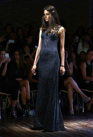 eveningwear: NEW YORK - SEPTEMBER 07: A Model walks runway for Raul Penaranda Spring-Summer 2015 Sultry presentation at Stage 48 during New York Fashion Week on September 07, 2014 in NYC.  Editorial