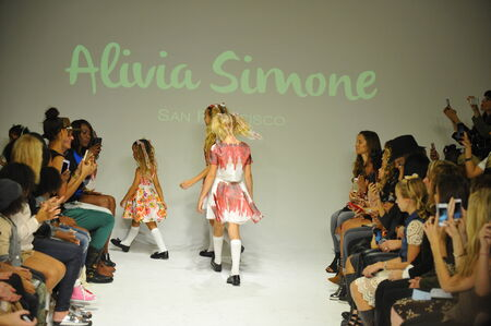 simone: NEW YORK, NY - OCTOBER 18: Models walk the runway finale during the Alivia Simone preview at petite PARADE Kids Fashion Week at Bathhouse Studios on October 18, 2014 in New York City.