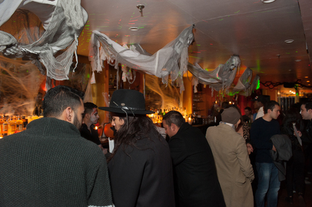 NEW YORK, NY - OCTOBER 31: General atmosphere at The Fashion Party during Halloween event at the West Village Crema Restaurant on October 31, 2014 in New York City.