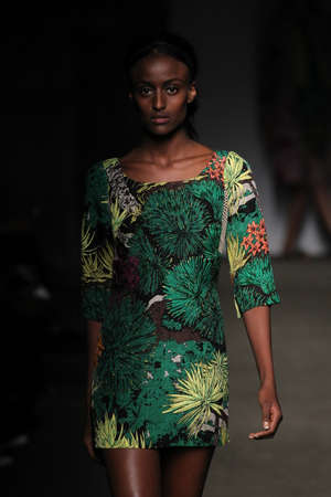 reese: NEW YORK, NY - SEPTEMBER 07: A model walks the runway at Tracy Reese during Mercedes-Benz Fashion Week Spring 2015 at Art Beam on September 7, 2014 in New York City.