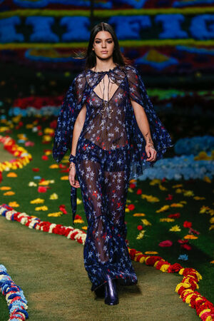NEW YORK, NY - SEPTEMBER 08: Kendall Jenner walks the runway at Tommy Hilfiger Womens fashion show during Mercedes-Benz Fashion Week Spring 2015 at Park Avenue Armory on September 8, 2014 in New York City.