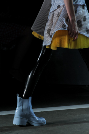 NEW YORK, NY - SEPTEMBER 09: A model walks the runway at the Marc By Marc Jacobs fashion show during Mercedes-Benz Fashion Week Spring 2015 at Pier 94 on September 9, 2014 in New York City.