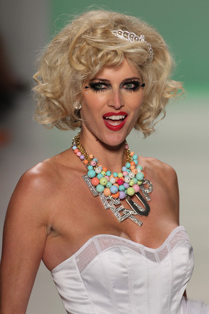 NEW YORK, NY - SEPTEMBER 10: TV personality Kristen Taekman walks the runway at Betsey Johnson during MBFW Spring 2015 at Lincoln Center on September 10, 2014 in NYC
