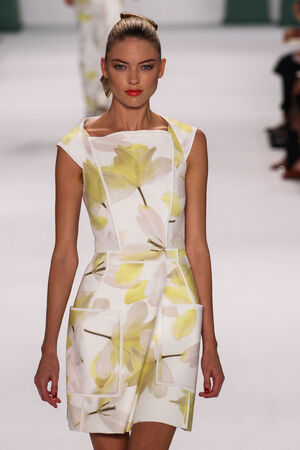 martha: NEW YORK, NY - SEPTEMBER 08: Model Martha Hunt walk the runway at the Carolina Herrera fashion show during MBFW Spring 2015 at The Theatre at Lincoln Center on September 8, 2014 in NYC. Editorial