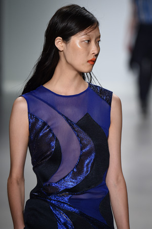 richard: NEW YORK, NY - SEPTEMBER 04: A model walks the runway at Richard Chai Love during Mercedes-Benz Fashion Week Spring 2015 at Lincoln Center on September 4, 2014 in NYC