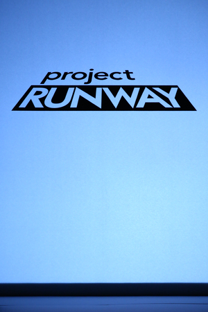 NEW YORK, NY - SEPTEMBER 05: A logo of the Project Runway show during Mercedes-Benz Fashion Week Spring 2015 at Lincoln Center on September 5, 2014 in NYC