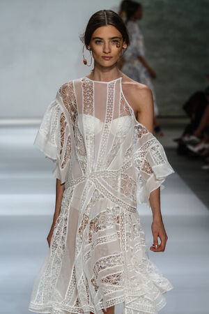 thaler: NEW YORK, NY - SEPTEMBER 05: Model Carolina Thaler walk the runway at the Zimmermann fashion show during MBFW Spring 2015 at Lincoln Center on September 5, 2014 in NYC Editorial
