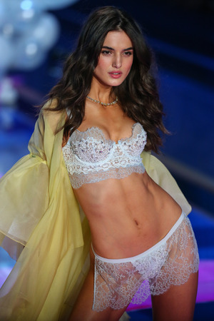 padilla: LONDON, ENGLAND - DECEMBER 02: Victorias Secret model Blanca Padilla walks the runway during the 2014 Victorias Secret Fashion Show on December 2, 2014 in London, England.