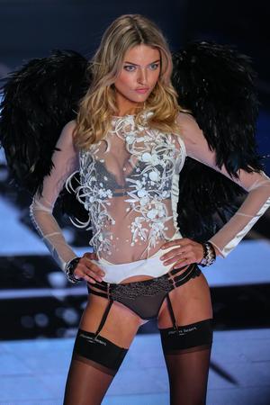 martha: LONDON, ENGLAND - DECEMBER 02: Victorias Secret model Martha Hunt walks the runway during the 2014 Victorias Secret Fashion Show on December 2, 2014 in London, England.