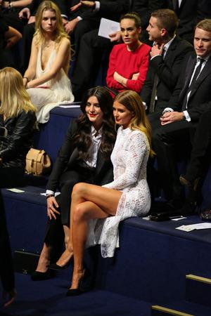 mackintosh: LONDON, ENGLAND - DECEMBER 02: Jessie Ware (L) and Millie Mackintosh attend the 2014 Victorias Secret Fashion Show on December 2, 2014 in London, England.